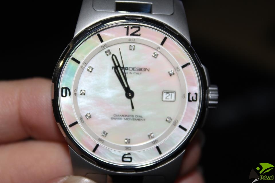 Thanh Lý cặp Đồng hồ hiệu Momo Design Mother of Pearl Diamond
